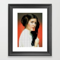 Princess with gun Framed Art Print