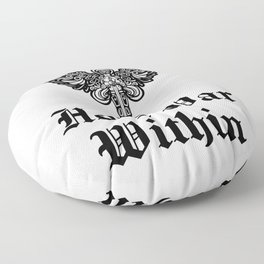 Holy war within Floor Pillow