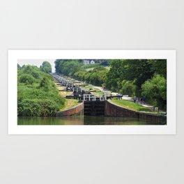 Caen Hill, Wiltshire, UK. Art Print