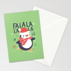 Fa la la penguin Stationery Cards