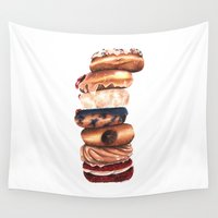 donuts Wall Tapestries featuring Donuts! by Sam Luotonen