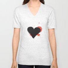 I Heart Live Art II Unisex V-Neck