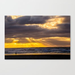 End of the Day Walk Canvas Print