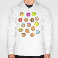 donuts Hoodies featuring Donuts by Reg Silva / Wedgienet.net