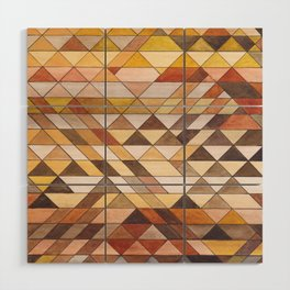 Triangle Pattern Fall Colors Wood Wall Art