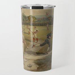 Vintage Painting of a Baseball Game (1887) Travel Mug