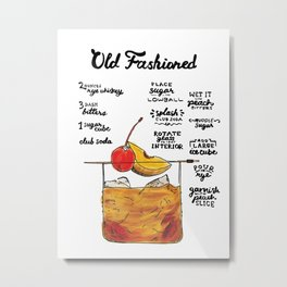 The Drink Collective: Peach Old Fashioned Metal Print