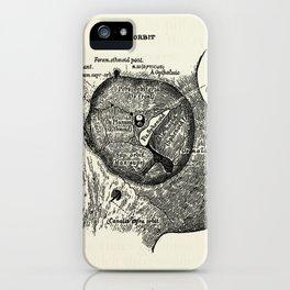 Vintage Anatomy The Left Orbit Bone iPhone Case