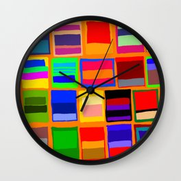 Rothkoesque Wall Clock