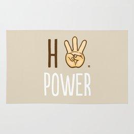 HiiiPower (w/text) : Pale Rug
