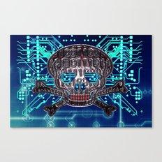 digital pirate Canvas Print
