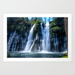 Flowing Waters (McArthur-Burney Falls) Art Print