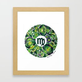 Virgo in Petrykivka style (with signature) Framed Art Print
