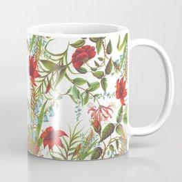 Ruby & Cerulean Floral Coffee Mug