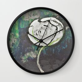 Golden Rose Acrylic Icey Green Mint Chocolate Chip Wall Clock