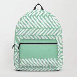 Herringbone Mint Boarder Backpack