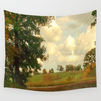 country Wall Tapestries featuring Country Roadside by J&C Creations