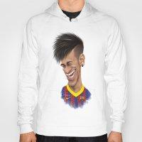 neymar Hoodies featuring Neymar - Barcelona by Sant Toscanni