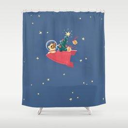 Laika Christmas Shower Curtain