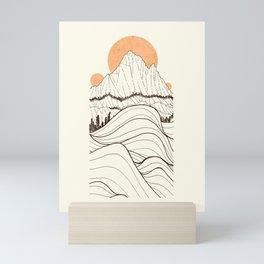 Forest Sun Cliffs Mini Art Print