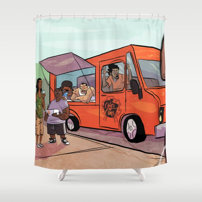 Cupcakes & Summertime Shower Curtain