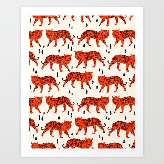Tiger by Andrea Lauren Design Art Print