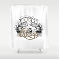 chicago Shower Curtains featuring Chicago by pakowacz