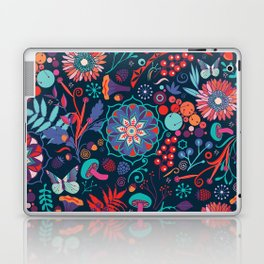 Ripe autumn – cyan and red Laptop & iPad Skin
