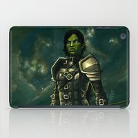 skyrim iPad Cases featuring Skyrim - Shro-gan vampire hunter by Amber Hague
