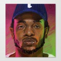 kendrick lamar Canvas Prints featuring Kendrick Lamar by Danielle Singer