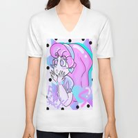 80s V-neck T-shirts featuring 80s Dreamer ~ by fairyspace