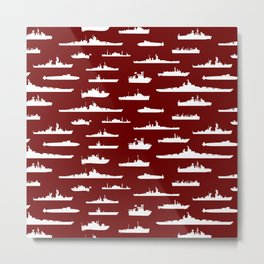 Battleship // Maroon Metal Print