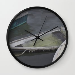 Cape Porpoise Dories Wall Clock