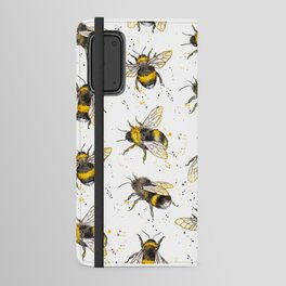 Fluffy Bumblebees (Pattern) Android Wallet Case