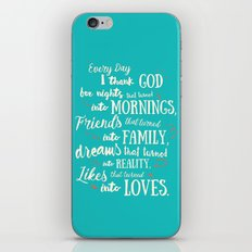 Thank God, inspirational quote for motivation iPhone & iPod Skin
