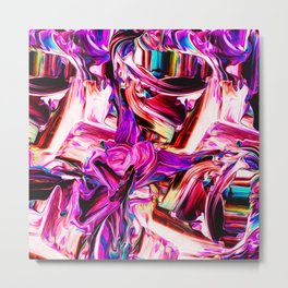 Colorful Abstract Liquid Paint IV Metal Print