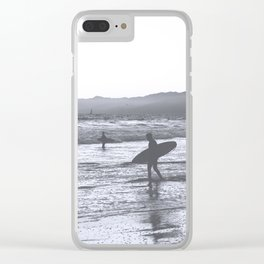Surf at Dusk Clear iPhone Case