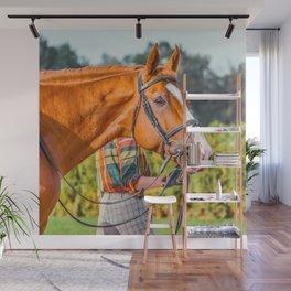 Horse head photo closeup Wall Mural