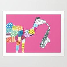 Pink-Camel Art Print