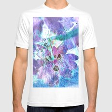 fantasy abstract 5 Mens Fitted Tee MEDIUM White