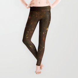 Rosettes Star Splattered Canvas Leggings