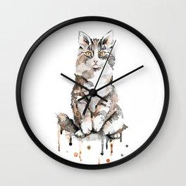 Fluffy Kitten Wall Clock