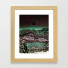 Women walking in space valley Framed Art Print
