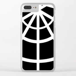 Spiderweb Tee Clear iPhone Case