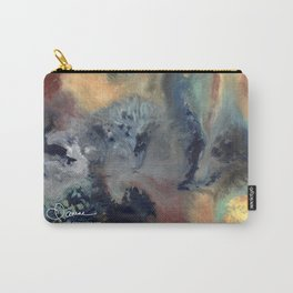 Abstract Floral Swirl Carry-All Pouch