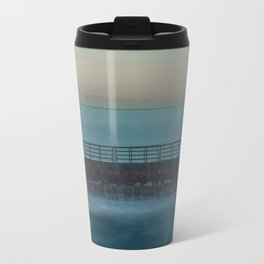 Seawall at Children's Pool Early in the Morning, La Jolla California Travel Mug