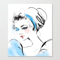 cinderella Canvas Prints featuring Cinderella  by putemphasis