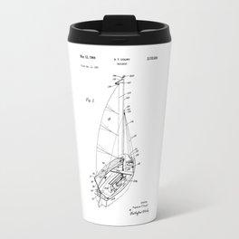 patent art Court Sailboat 1964 Travel Mug