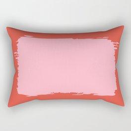 Crimson Swatch Rectangular Pillow