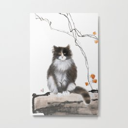Smart kitty Mag Metal Print